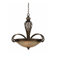 Triarch Industries Ironstone 3 Light Pendant in Platinum Bronze 31902