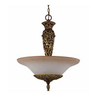 Triarch Industries Filigree 3 Light Pendant in Aged Bronze 32102