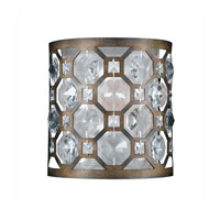 Triarch Industries Cartier 1 Light Wall Sconce in Hand Painted Weathered Bronze with Crystal Accents Glass 32150/1