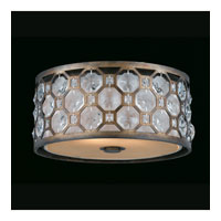 Triarch Industries Cartier 2 Light Flush Mount in Hand Painted Weathered Bronze with Crystal Accents Glass 32156-15
