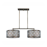 Triarch Industries Cartier 4 Light Island Light in Hand Painted Weathered Bronze with Crystal Accents Glass 32157