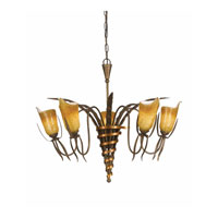 Triarch Fleur De Chocolat 5 Light Chandelier in Chocolate Bronze 32303