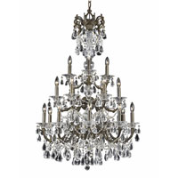 Triarch Industries Renaissance 18 Light Chandelier in English Bronze with Draped In Crystal With Drops And Crystal Bobeches Glass 32315