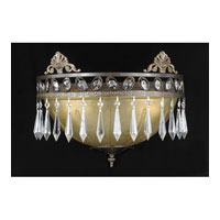 Triarch Industries Le Grandeur 2 Light Wall Sconce in English Bronze with Opulent Glass 32320/2