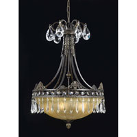 Triarch Industries Le Grandeur 5 Light Pendant in English Bronze with Opulent Glass 32322-21