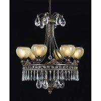 Triarch Industries Le Grandeur 6 Light Chandelier in English Bronze with Opulent Glass 32323