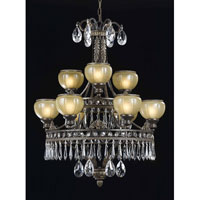 Triarch Industries Le Grandeur 9 Light Chandelier in English Bronze with Opulent Glass 32324