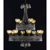 Triarch Industries Le Grandeur 12 Light Chandelier in English Bronze with Opulent Glass 32325