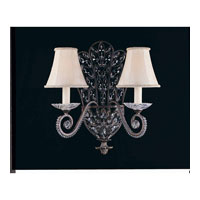 Triarch Industries Grand 2 Light Wall Sconce in English Bronze with Crystal Accents Glass 32370/2