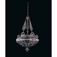 Triarch Industries Grand 3 Light Pendant in English Bronze with Crystal Accents Glass 32372