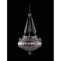 Triarch Industries Grand 6 Light Pendant in English Bronze with Crystal Accents Glass 32373