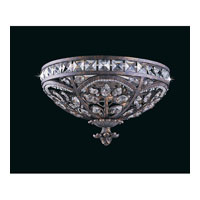 Triarch Industries Grand 3 Light Flush Mount in English Bronze with Crystal Accents Glass 32376