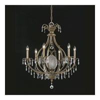 Triarch Industries Aloha 7 Light Chandelier in English Bronze with Glass Beaded Pineapple Accent Glass 32453