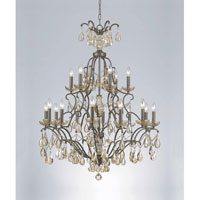 Triarch Industries Versailles 18 Light Chandelier in Antiqued Bronze with Crystal Accents Glass 32465
