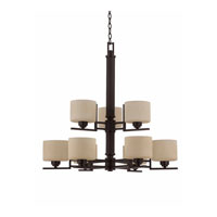 Triarch Oak Park 9 Light Chandelier in Oil Rubbed Bronze 32734