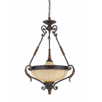 Triarch Industries Venus 3 Light Pendant in English Bronze with Fluted Scavo Glass 32762-23