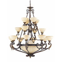 Triarch Industries Venus 20 Light Entry Chandelier in English Bronze with Fluted Scavo Glass 32765