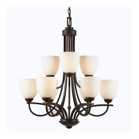 Triarch Industries Value Series 110 9 Light Chandelier in Oil Rubbed Bronze with Opal Glass 33114