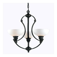 Triarch Industries Value Series 130 3 Light Pendant in Graphite Bronze with White Opal Glass 33132