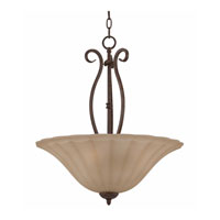 Triarch Industries Value Series 160 3 Light Pendant in Tortoise Shell 33162