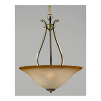 Triarch Industries Value Series 170 3 Light Pendant in Antiqued Brass with Cognac Antiqued Scavo Glass 33172