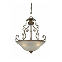 Triarch Industries Value Series 190 3 Light Pendant in Tortoise Shell with Crystal Accents Glass 33192