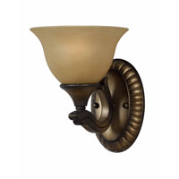 Triarch Industries Value Series 230 1 Light Wall Sconce in Platinum Bronze with Amber Tinted Frosted Glass 33230/1