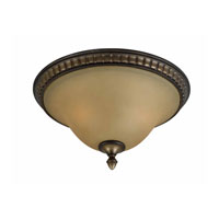 Triarch Industries Value Series 230 2 Light Flush Mount in Platinum Bronze with Amber Tinted Frosted Glass 33236