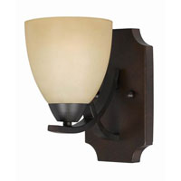 Triarch Industries Value Series 240 1 Light Wall Sconce in English Bronze with Antiqued Painted Glass 33240/1