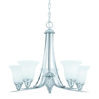 Triarch Value Series 5 Light Chandelier in Chrome 33253
