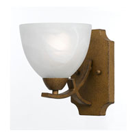 Triarch Industries Value Series 280 1 Light Wall Sconce in Aged Gold with White Swirl Alabaster Glass 33280/1-AG