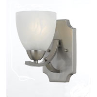Triarch Industries Value Series 290 1 Light Wall Sconce in Satin Nickel with White Swirl Alabaster Glass 33290/1