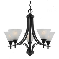 Triarch Value Series 310 5 Light Chandelier in English Bronze 33313