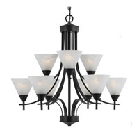 Triarch Value Series 310 9 Light Chandelier in English Bronze 33314