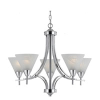 Triarch Value Series 320 5 Light Chandelier in Chrome 33323