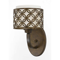 Triarch Industries Orion 1 Light Wall Sconce in Aged Bronze with Fabric Shade 35100/1