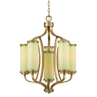 Triarch Industries Il Maestro 6 Light Chandelier in Silver And Gold Leaf with Cream Colored Glass 38513
