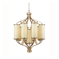 Triarch Industries Il Maestro 9 Light Chandelier in Silver And Gold Leaf with Cream Colored Glass 38514
