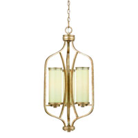 Triarch Industries Il Maestro 3 Light Entry Chandelier in Silver And Gold Leaf with Cream Colored Glass 38517
