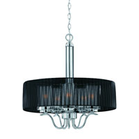 Triarch Industries Cylindique 5 Light Pendant in Chrome with Clear And Frosted Glass 38522