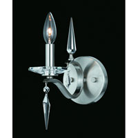 Triarch Industries Swan 1 Light Wall Sconce in Satin Nickel with Crystal Accents Glass 39400/1