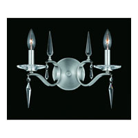Triarch Industries Swan 2 Light Wall Sconce in Satin Nickel with Crystal Accents Glass 39400/2