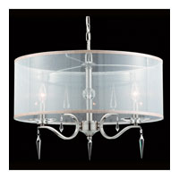 Triarch Industries Swan 4 Light Pendant in Satin Nickel with Crystal Accents Glass 39402