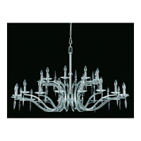 Triarch Industries Swan 27 Light Entry Chandelier in Satin Nickel with Crystal Accents Glass 39405