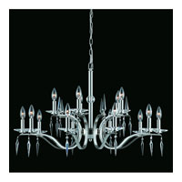 Triarch Industries Swan 15 Light Chandelier in Satin Nickel with Crystal Accents Glass 39407