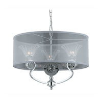 Triarch Industries Medallion 3 Light Pendant in Chrome Plated With Black Nickel Accents with Clear Crystal Glass 39412