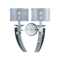 Triarch Aurora 2 Light Wall Sconce in Chrome 39420/2