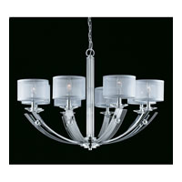 Triarch Aurora 8 Light Chandelier in Chrome 39427