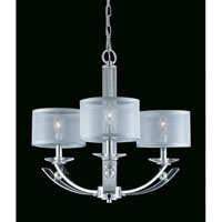 Triarch Aurora 3 Light Chandelier in Chrome 39428