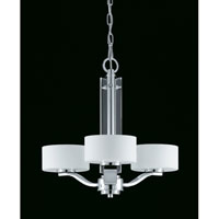 Triarch Industries Solstice 3 Light Chandelier in Chrome with Acrylic Accents 39438